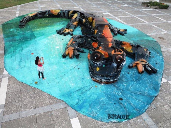 22 Street Art by Bordalo II in Agueda, Portugal 1