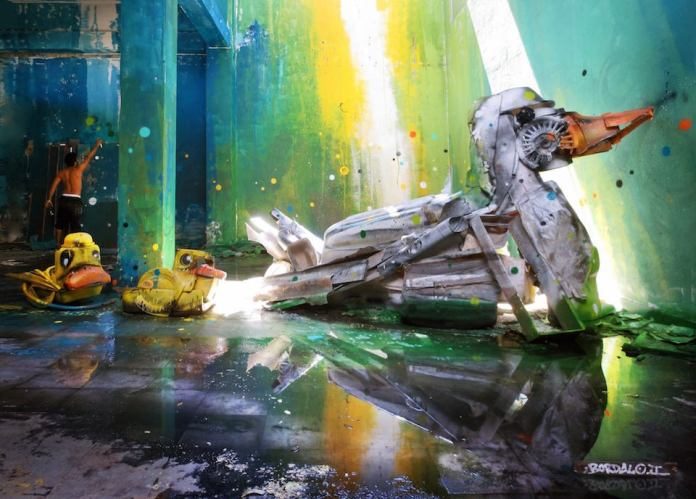 9 Street Art by Bordalo II in Lisbon, Portugal