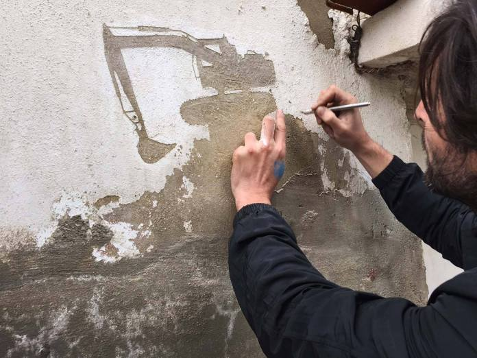 Street Art by Pejac in Al-Hussein, a Palestinian refugee camp in Amman Jordan 1