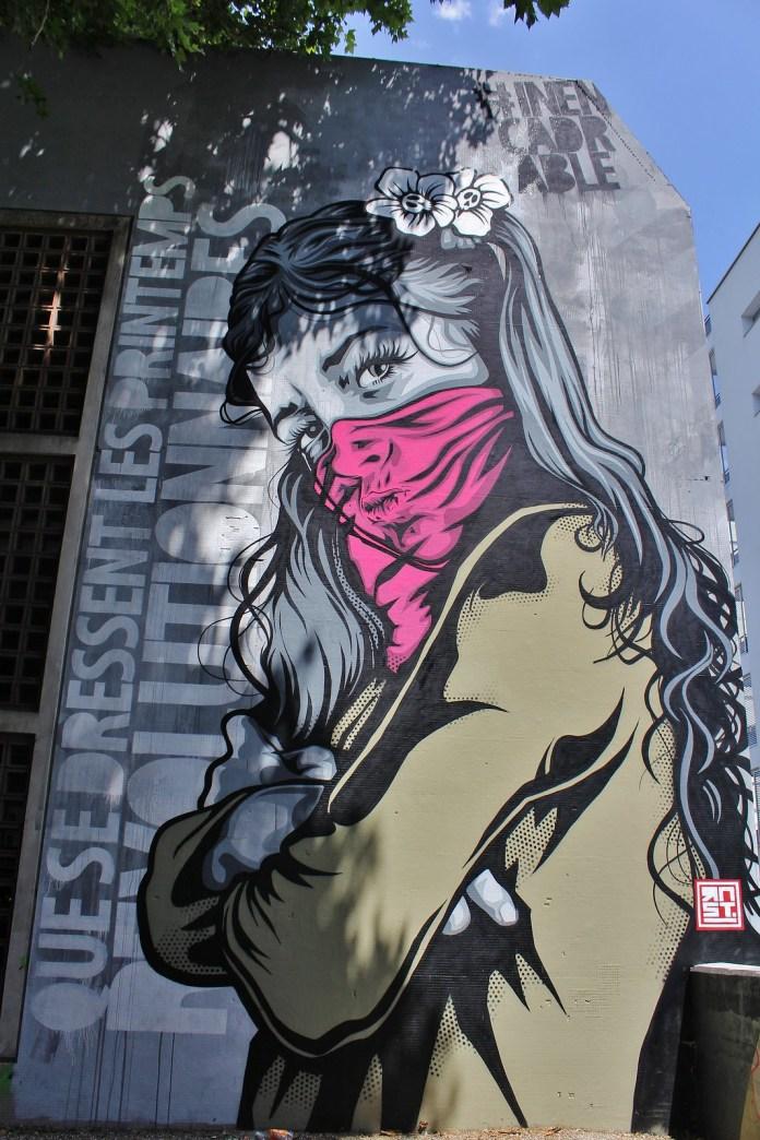 Street Art by Street Artist RNST in France: Paris, Dijon, Grenoble and Bayonne.