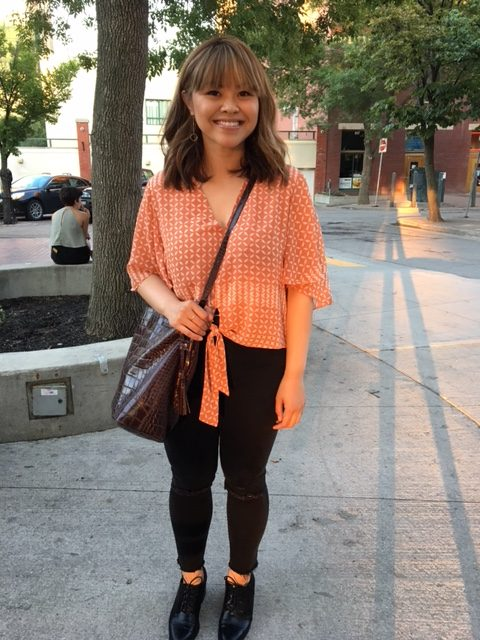 Ira looking orange in downtown Winnipeg