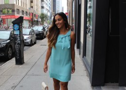 featured image in Montreal blue coral dress for boyfriend