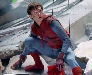 Peter Parker homemade spiderman suit in movie Homecoming