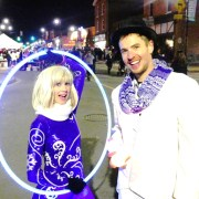 shiny costume - street performers in Markham