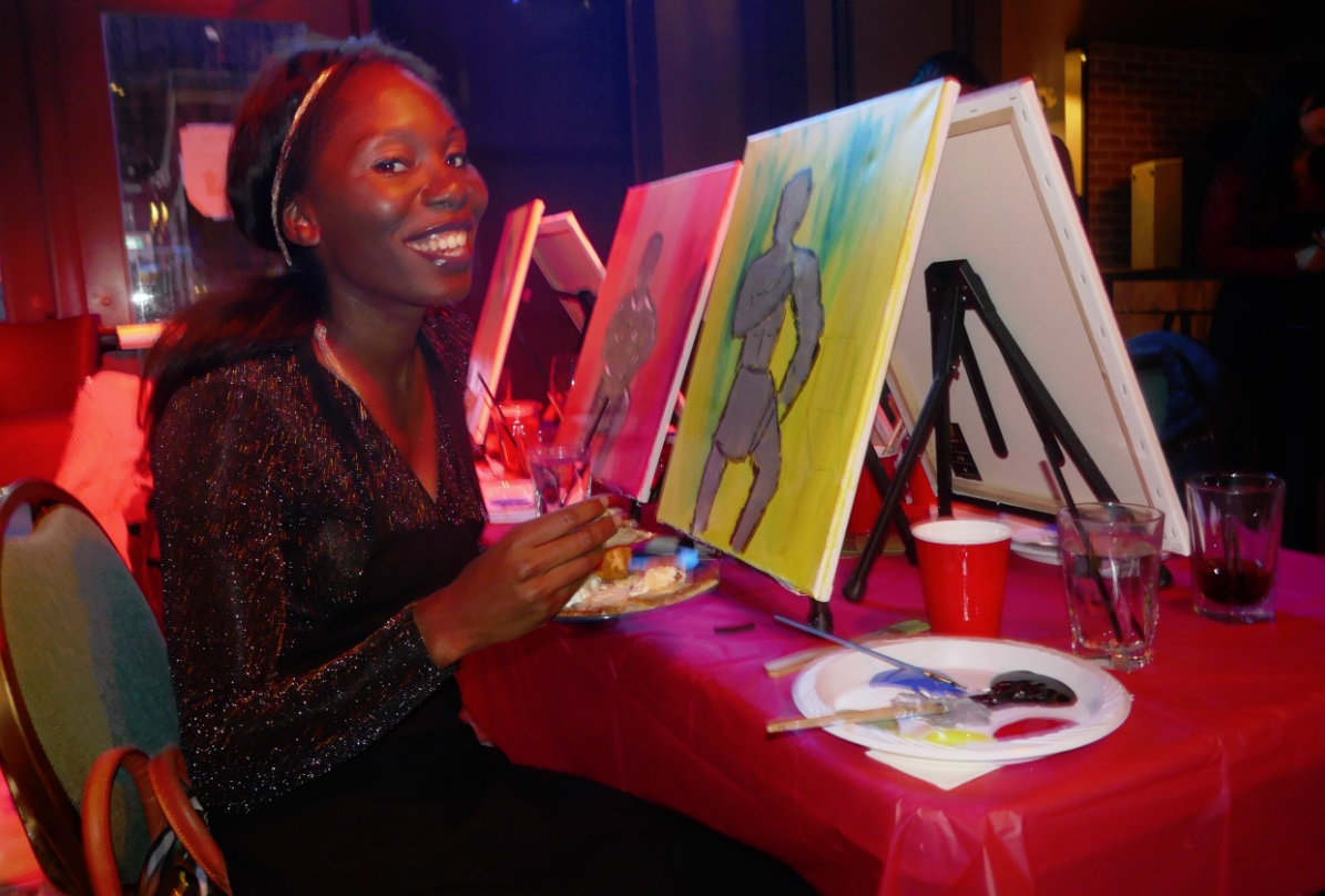 paint night with Studenomics, Single in the City