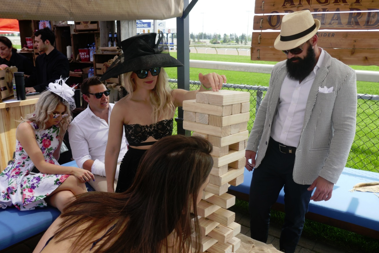 Jenga for Greenwood Stakes game