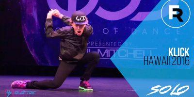 Klick   SOLO Dance Winner   FRONTROW   World of Dance Hawaii 2016   #WODHI16