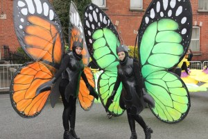 Garden Theme entertainers, butterfly costumes