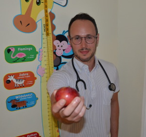 AN APPLE A DAY: Naturopath Dr. Shawn Meirovici, at Mahaya Forest Hill Integrative Health.