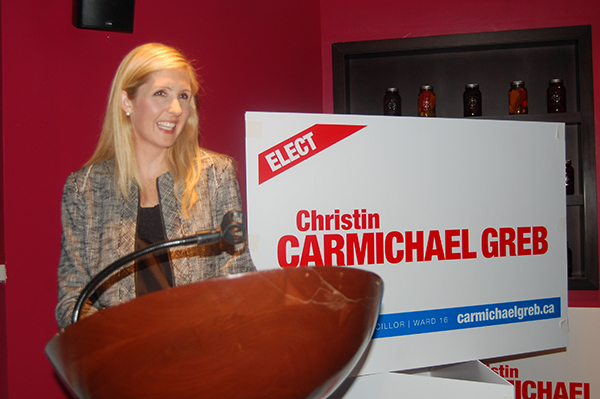 Christin Carmichael Greb thanks supporters