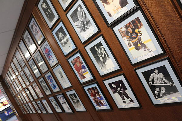 Pictures of NHLers past and presen, adorn the walls of St. Michael's Arena at the Bathurst and St. Clair school.