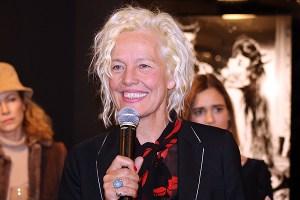 Fashion photographer Ellen von Unwerth at the Izzy Gallery.