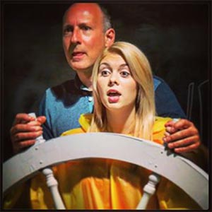 MADE IN THE MIST: Cass (Kearsten Johansson) gets piloting lessons from Captain Mike (Chris Irving) as part of her seduction of captain at Niagara Falls.