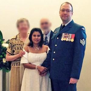 Wedding photo of Precious Charbonneau and Robert Giblin