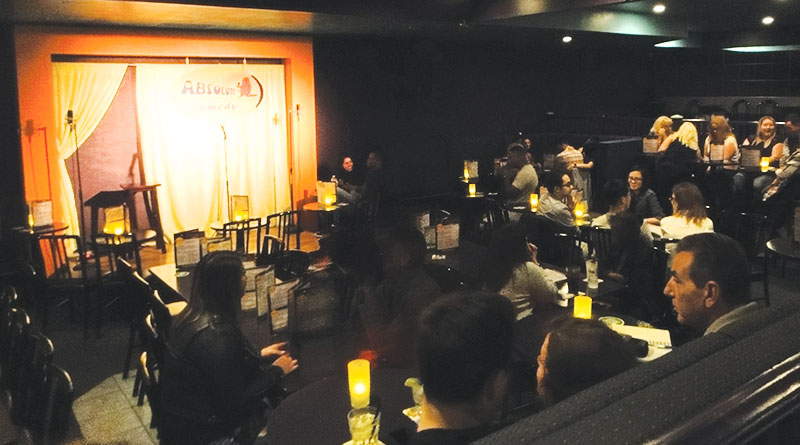 Waiting for the show at Absolute Comedy