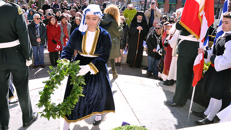 Greek Independence Day wreath laying.