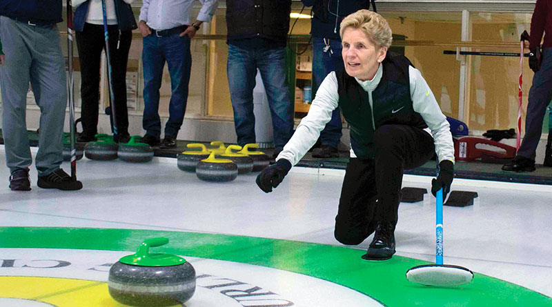 Wynne before announcing her prescription drug plan for seniors.