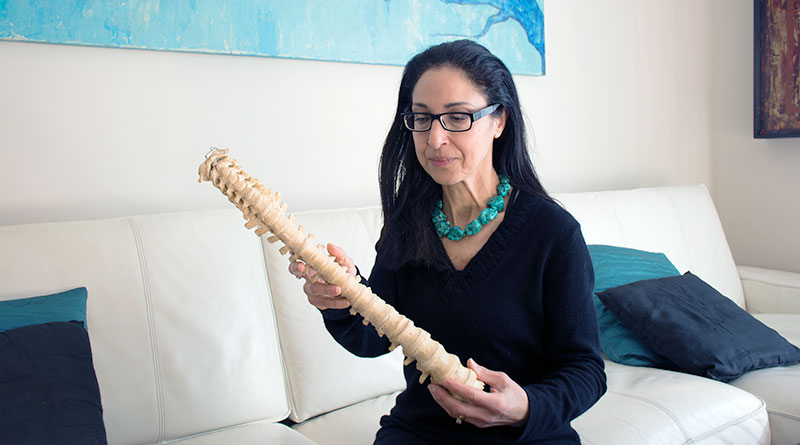 Forensic pathologist Dr. Myriam Nafte at home