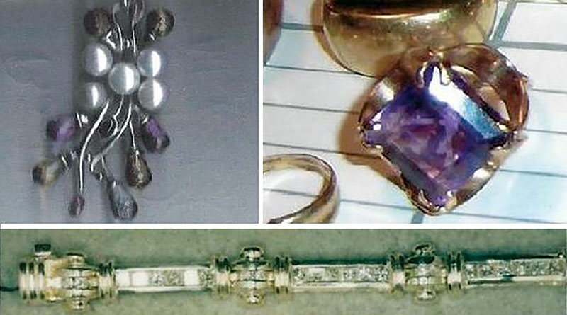Jewellery in stolen safe