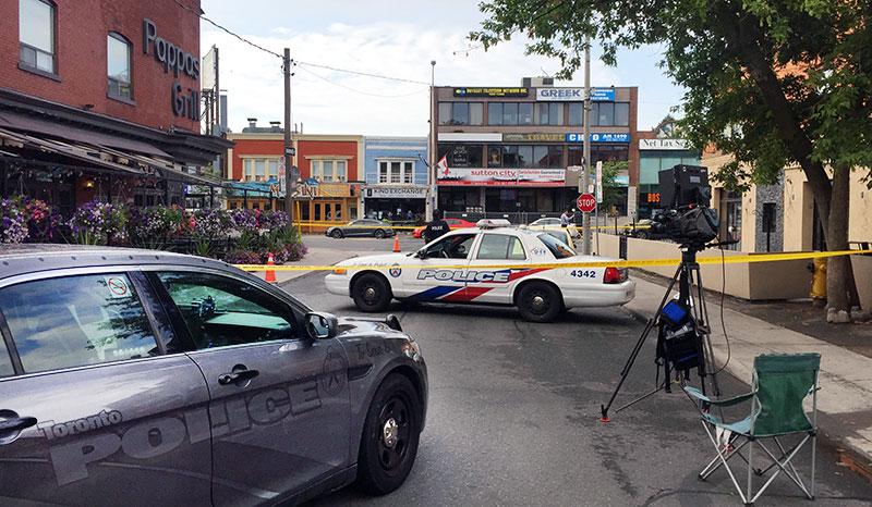 Danforth Avenue sidestreets blocked
