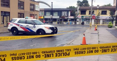 site of Danforth homicide