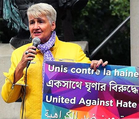 Paula Fletcher at protests on Danforth