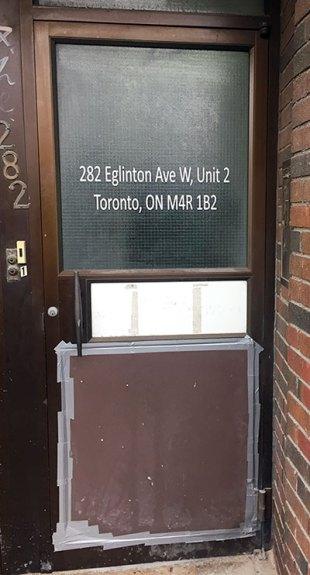 Door of cannabis dispensary