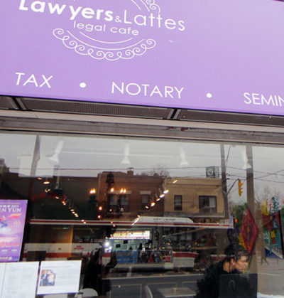 Lawyers and Lattes storefront