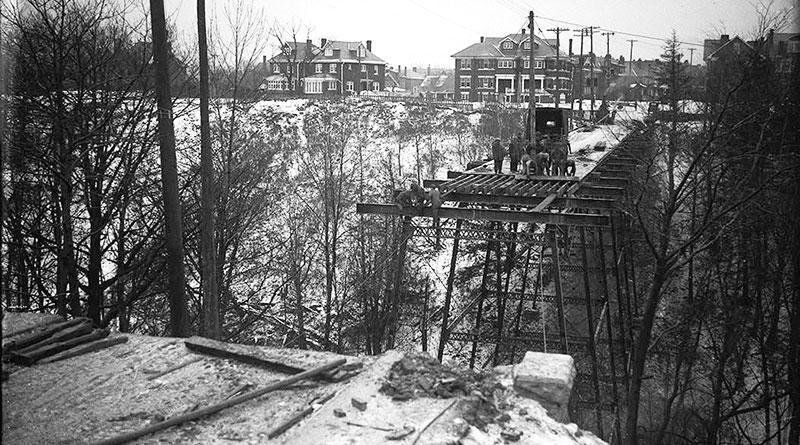 Avoca bridge being torn down