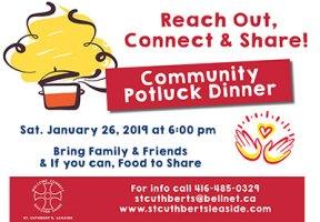 Potluck dinner at St. Cuthbert's poster