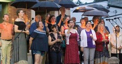 Choir at Danforth shooting vigil