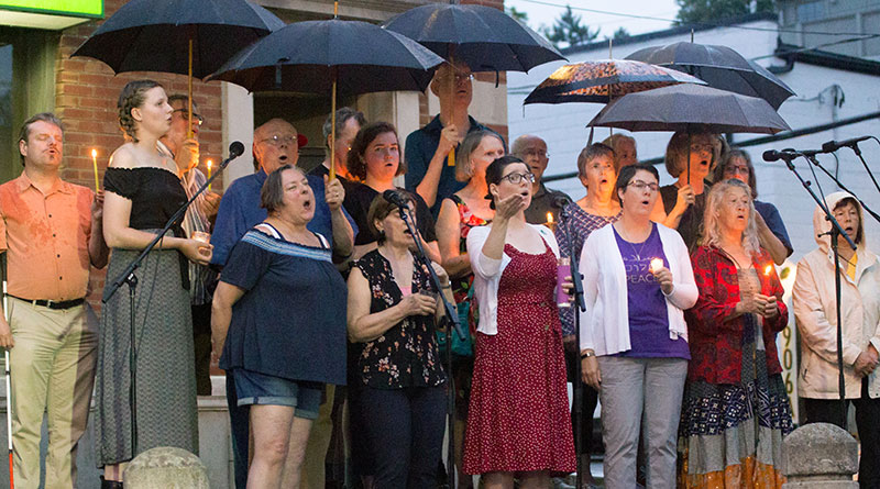 Choir at Danforth shooting vigil