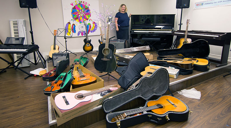 Donations of musical instruments at CCAC