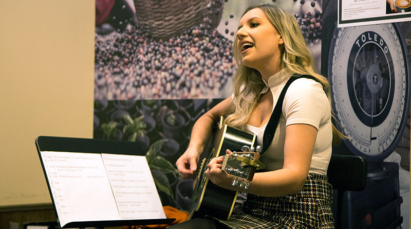Starbucks performer Alice Hail