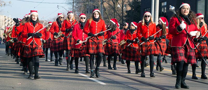 Malvern Marching Band at the Beaches Santa Claus Parade