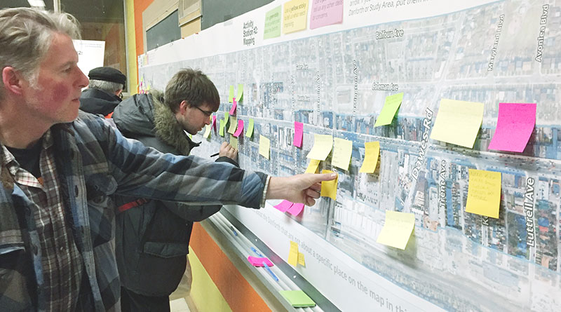 Adding comments to map at Danforth Study