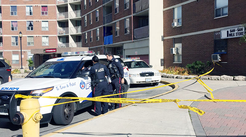 Police at Eastdale Avenue shooting