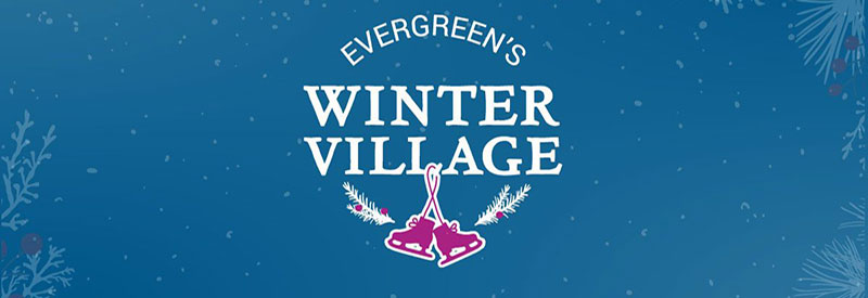 Evergreen Winter Village logo