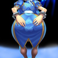 Chun Li's vagina muscles are so well developed that they can be seen even through her clothes!