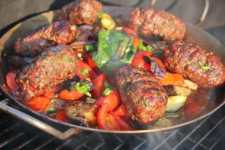 BBQ Food Truck Menu Ideas - Kofta lamb skewers