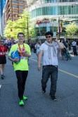 Nick walks with his fellow Street2Peak buddy Brandon after his run.