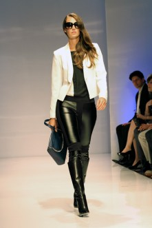 On the Runway - Leather and White Jacket