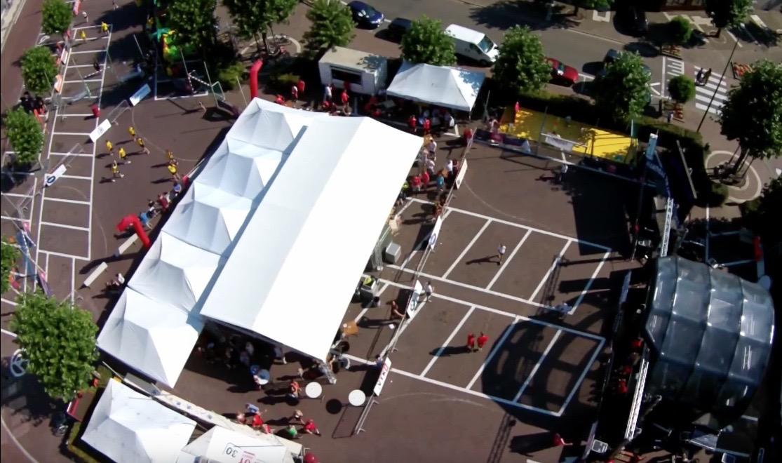drone photo SH street handball event sporting nelo belgium 2015 3