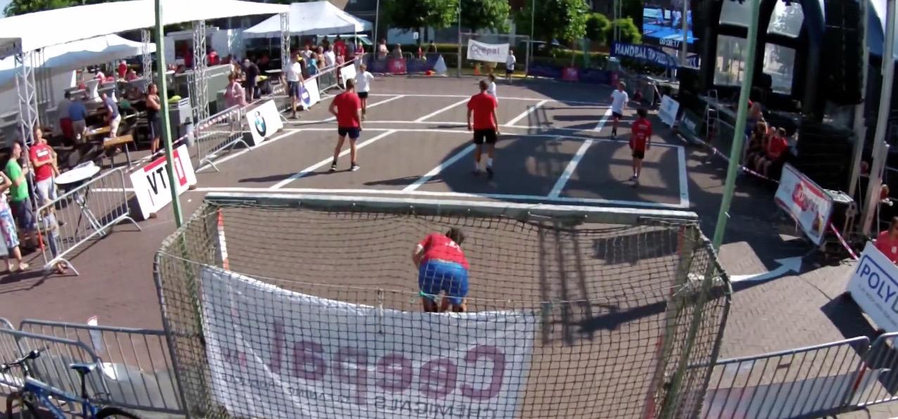 drone photo SH street handball event sporting nelo belgium 2015 4