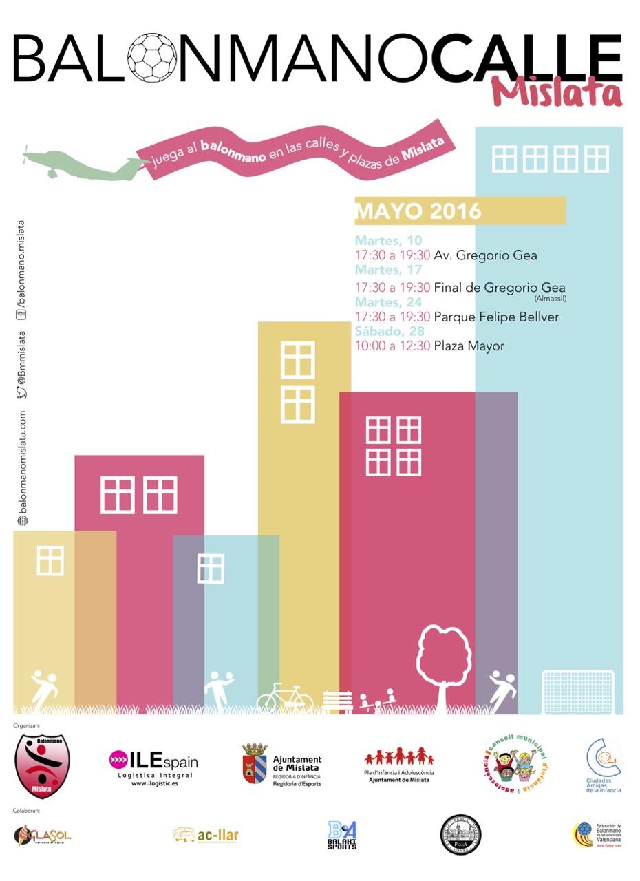 2016 Balonmano Calle Mislata Event Poster