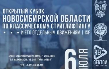 6 июля 2019 – Кубок Новосибирской области по классическому стритлифтингу и его отдельным движениям, г. Куйбышев (К)