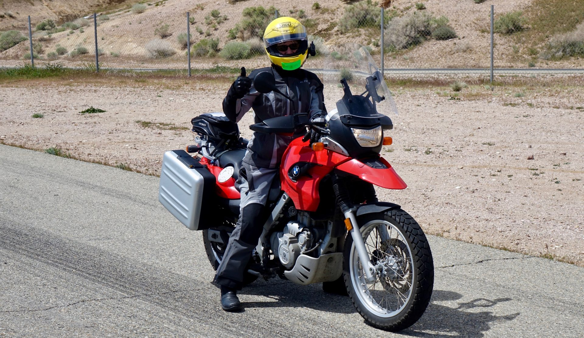Jean waiting to hit Horse Thief Mile at Willow Springs