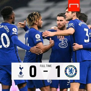 Tottenham 0-1 Chelsea: Jorginho's penalty level up the Blues to sixth Position in EPL Table