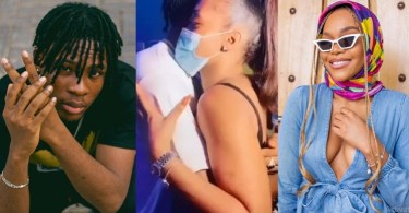 The Romantic Moment Joeboy Hugged Lilo Passionately At His Album Listening Party (Video)