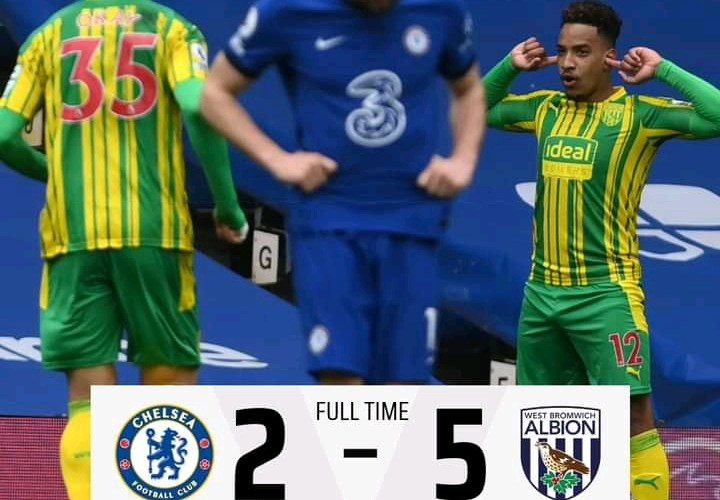 Chelsea 2-5 West Bromwich Albion - Goal Highlights